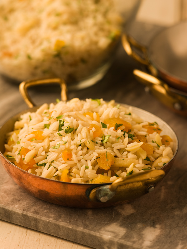 Rice Pilaf with Almonds & Apricots - Chef Michael Smith