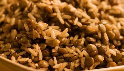 Brown Rice and Lentils