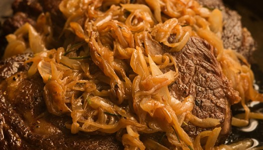 Pan-Roasted Steak with Browned Onions