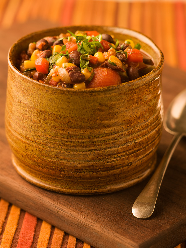 Southwestern Black Bean & Corn Chili - Chef Michael Smith