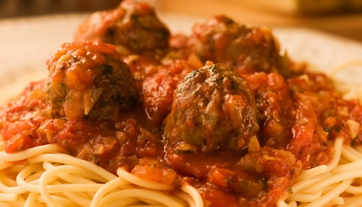 Spaghetti & Meatballs with Simple Tomato Sauce