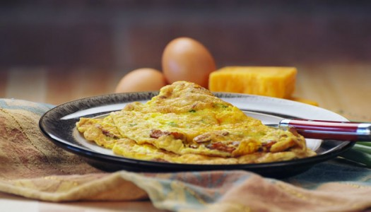 Bacon Cheddar Omelette