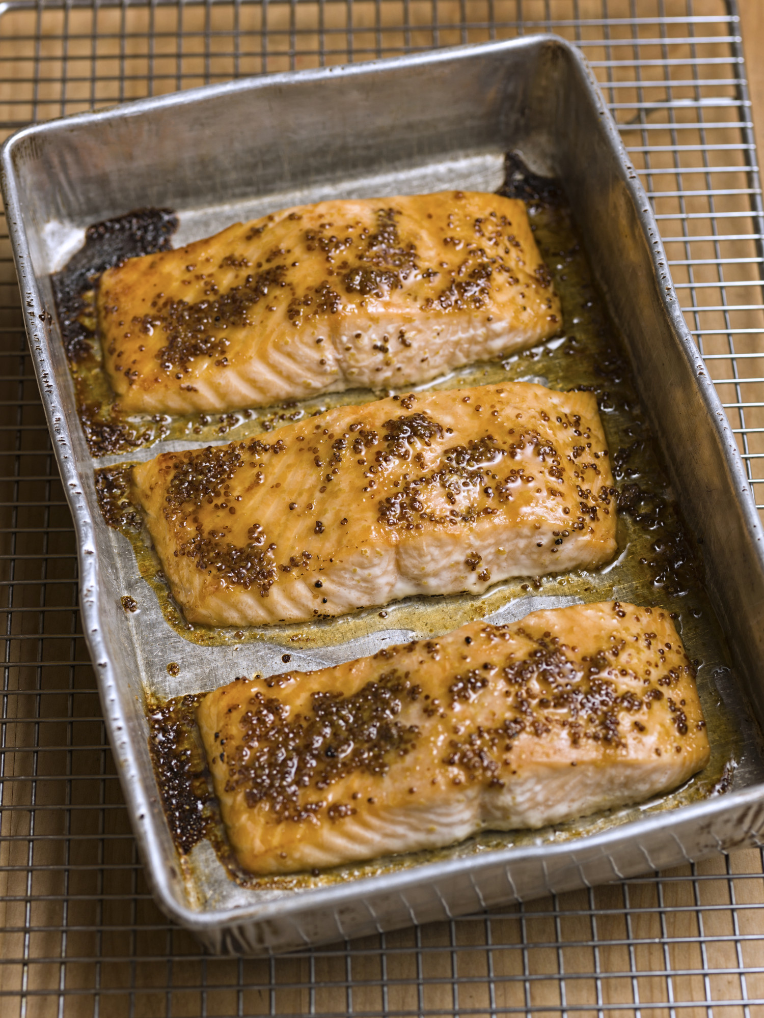 Honey-Mustard Glazed Salmon with Lentils (Dinner 1 of 2 Salmon Dinners ...